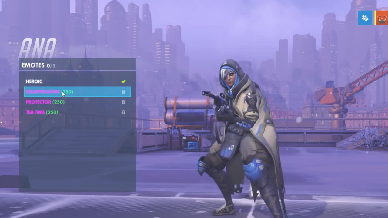 Ana Emotes all ana intros, emotes and voice lines - overwatch new hero unlockables gif