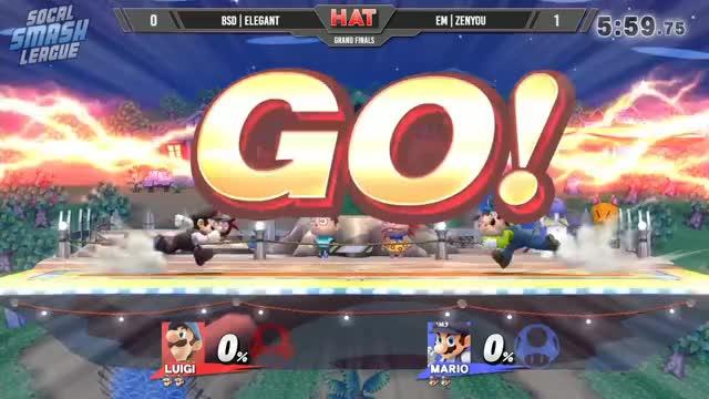HAT 15 - BSD | Elegant (Luigi) Vs. eM | Zenyou (Mario) Grand Finals - Smash 4