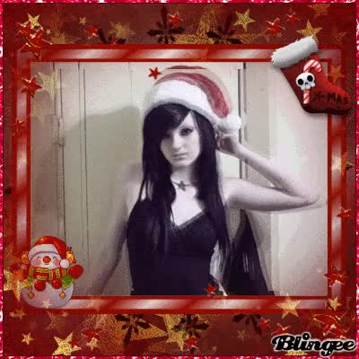 Watch and share Emo Girl (christmas) GIFs on Gfycat