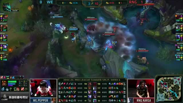 Insane Ryze play during the game of RNG VS WE