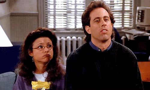 jerry seinfeld, julia louis-dreyfus, seinfeld, shrug, you look marvelous GIFs