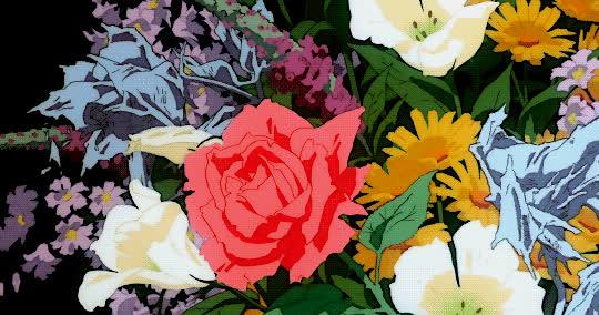 1995, anime, flowers, koji morimoto, memories, roses, Memories - 1995 GIFs