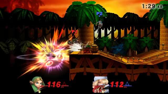 Watch Young Link vs Sheik GIF by Fooni Ventes (@fooniventes) on Gfycat. Discover more DK Jungle Japes, Mod, SSB4, Sheik., Smash Bros for WiiU, Smash Ultimate Mod, Young Link GIFs on Gfycat
