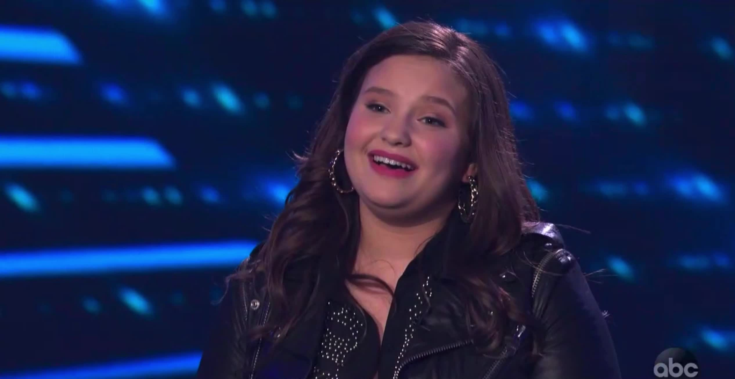 american idol, american idol season 17, americanidol, katy perry, lionel richie, luke bryan, madison vandenburg, ryan seacrest, season 17, thank you, thanks, American Idol Madison Thanks Katy GIFs