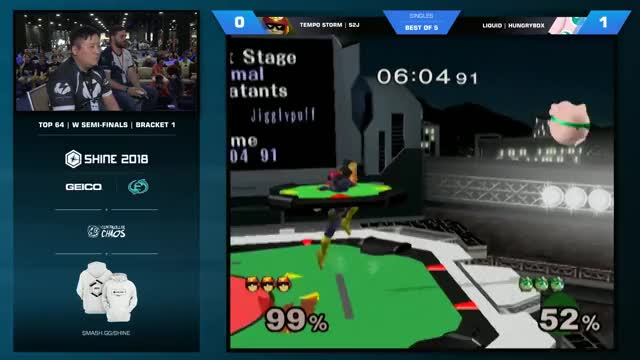 Hungrybox vs S2J - Melee Singles: Winners' Semifinals - Shine 2018