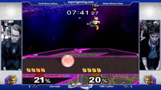 FC Return - [A] Armada (Fox) Vs. TSM | Leffen (Fox) SSBm Winners Finals - Smash Melee