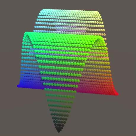 Watch and share Diagonal Sine GIFs by Catlike Coding on Gfycat