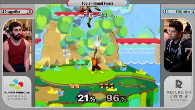 Watch Super FamiCon - Grand Finals - Druggedfox vs EMG | n0ne GIF by @benrachman on Gfycat. Discover more recursion, recursiongg, super GIFs on Gfycat