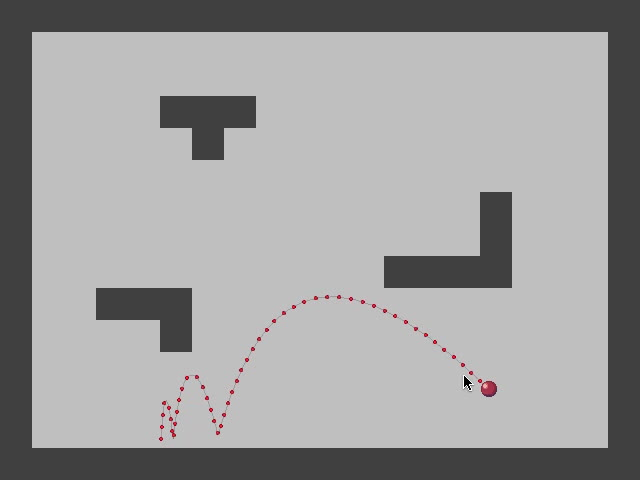 gamemaker, trajectory, Draw Movement Trajectory in GameMaker GIFs