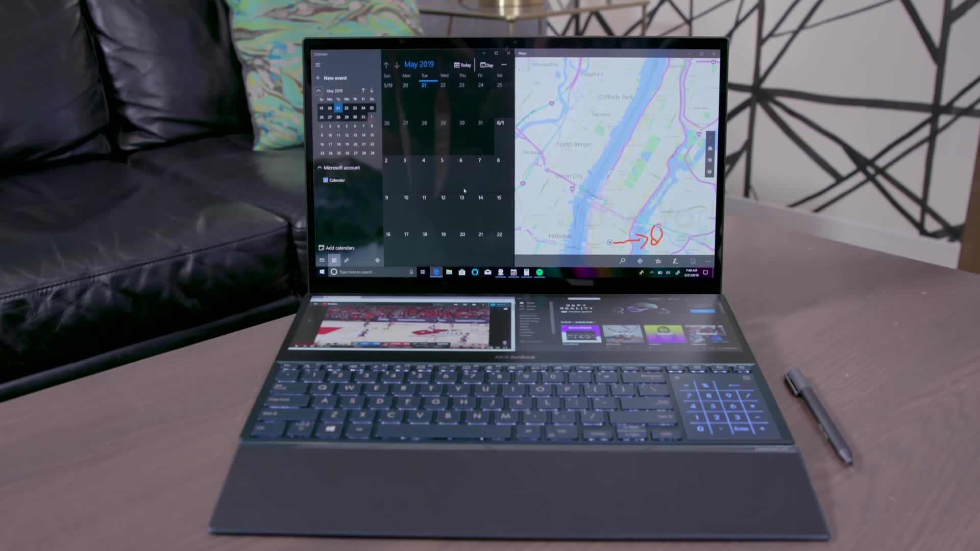2019, asus, computex, computex2019, consumer tech, duo, engadget, gadgets, gear, hands-on, in-keyboard, laptop, pro, science, science & technology, tech, technology, zenbook, zenbook pro, ASUS Zenbook Pro Duo Hands-On at Computex 2019 GIFs