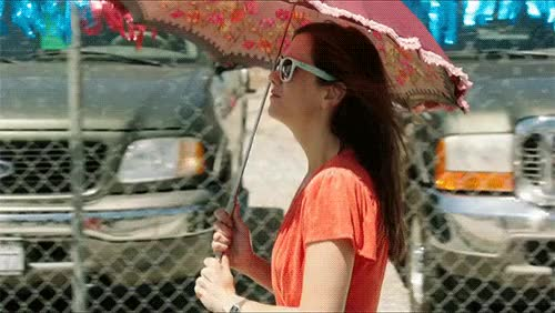 Watch and share Kristen Wiig GIFs and Umbrella GIFs on Gfycat