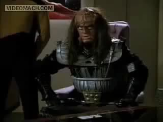 Watch and share When You Threaten The Future Klingon Chancellor GIFs on Gfycat