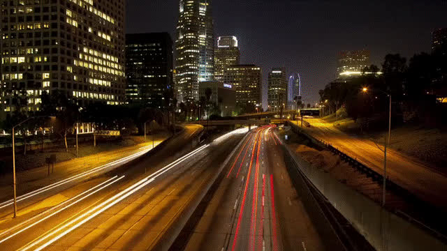 LosAngeles, cinemagraphs, timelapse, Road to Los Angeles GIFs