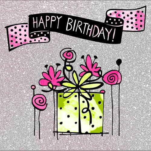 Watch and share Happy-birthday-animated-gift-flowers-illustration-greeting-card-hipster-cute-gif GIFs on Gfycat