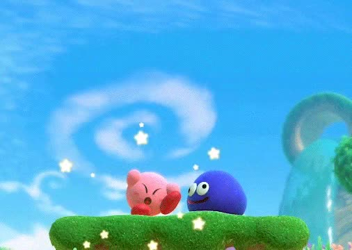 Watch and share Kirby Star Allies Clips - Gooey Revives Kirby! GIFs on Gfycat
