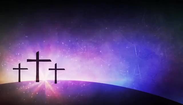 Watch and share Three Crosses Purple Animated Worship Background GIFs on Gfycat