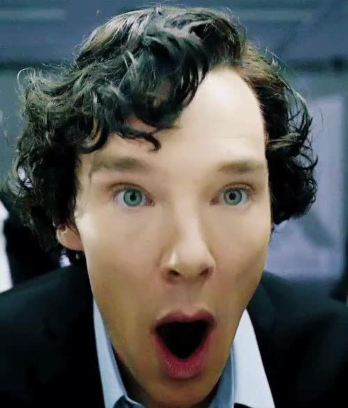 Watch and share Sherlock Happy GIFs on Gfycat