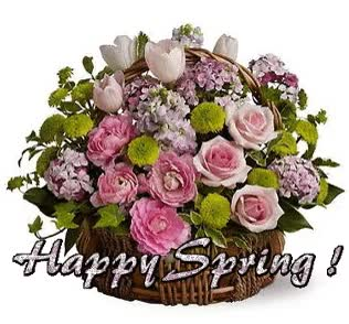 Watch and share Happy Spring Pink Rose Bouquet GIFs on Gfycat