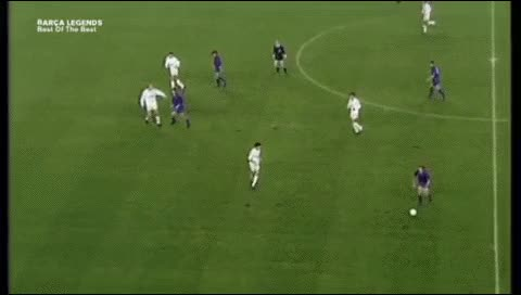 Watch and share Michael Laudrup. Barcelona - Real Madrid. 1990-91 GIFs by fatalali on Gfycat
