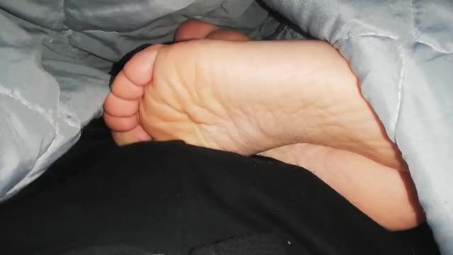 footjob during the time that watching tv
