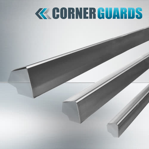Galvanized corner guard, Kick Plates, Diamond plate kick plate GIFs
