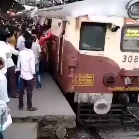 train, crowds, wtf, All aboard GIFs