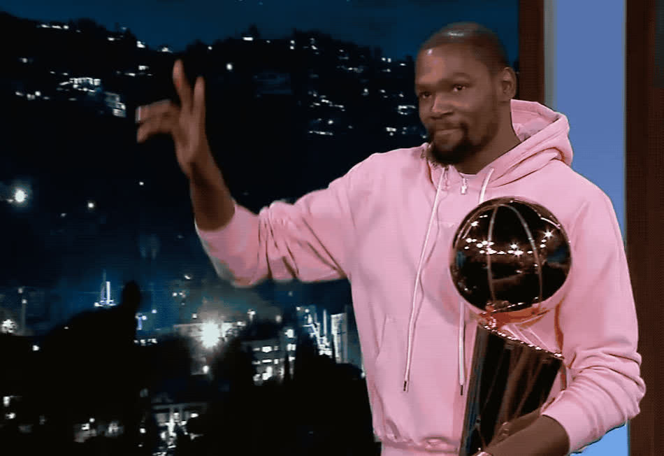 adios, bye, cu, cup, durant, goodbye, hello, hey, hi, hola, jimmy, kevin, kimmel, later, see, show, thank, thanks, you, Kevin Durant - Hey there GIFs