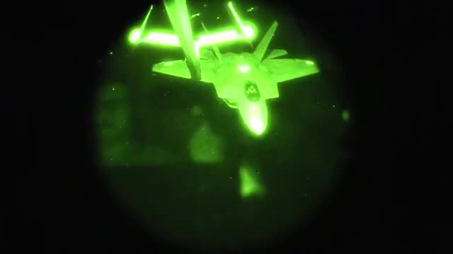 Watch and share F-22 Refueling During Anti-ISIS Missions Through NVG Vision GIFs on Gfycat