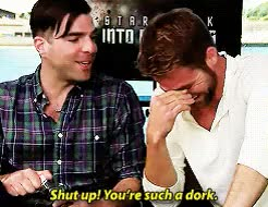Watch CraftySpectacularAsianporcupine GIF on Gfycat. Discover more Zachary Quinto, adorbs, cuteness, pinto, spirk GIFs on Gfycat