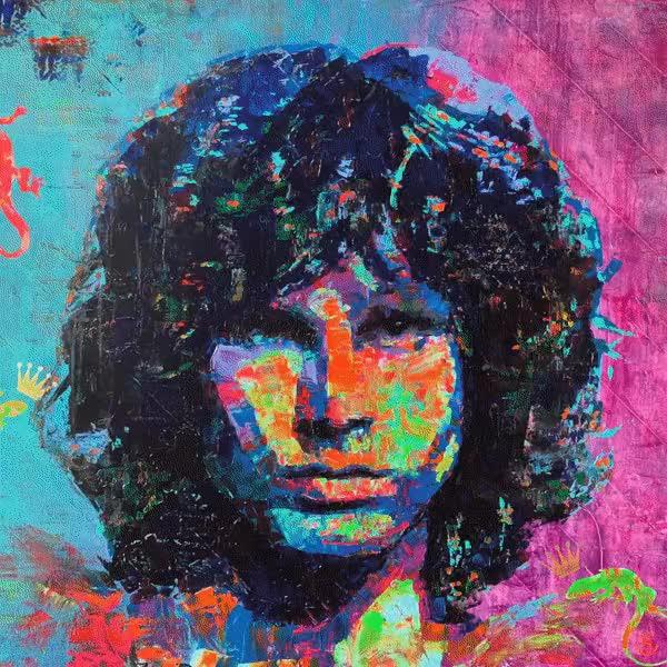 "Watch and share Finishing Up My Latest Of The Lizard King Jim Morrison: ""Barbaturex Morrisoni"" GIFs on Gfycat"