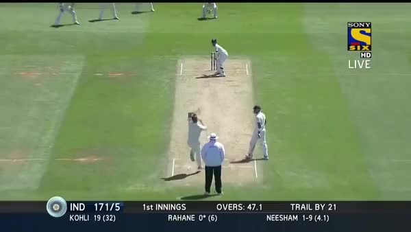 Watch and share [Ajinkya Rahane] Begins His Innings With A Straight Drive, 2nd Test V New Zealand, Wellington 2014 (reddit) GIFs on Gfycat