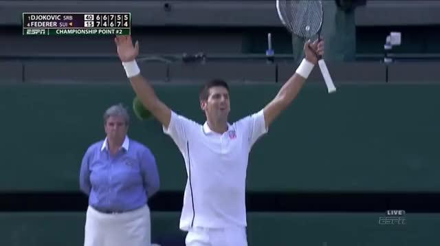 Watch Djokovic Wimbledon 2014 Celebration GIF by @jm1980 on Gfycat. Discover more Novak Djokovic, tennis GIFs on Gfycat