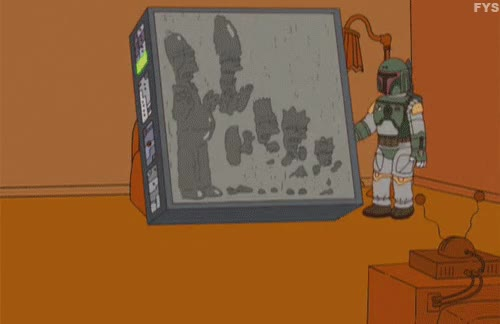 Watch and share Gif The Simpsons Simpsons Boba Fett Couch Gag Season 20 Sex Pies And Idiot Scrapes GIFs on Gfycat