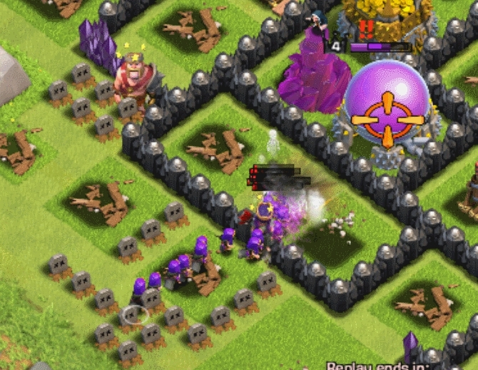 clashofclans, [MISC] 100+ Archers vs Wizard Tower and Archer Queen. (reddit) GIFs