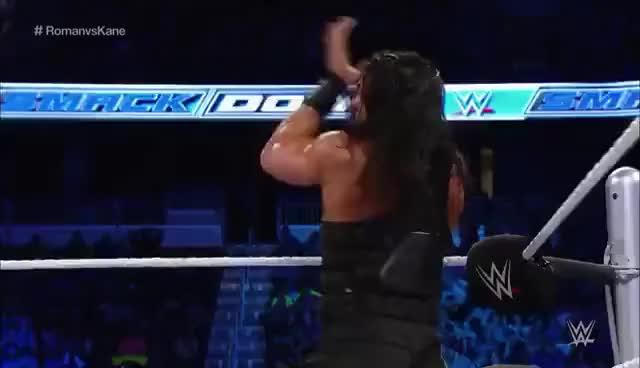 Watch Kane vs Roman Reigns GIF on Gfycat. Discover more Chokeslam, Kane, Roman Reigns, Table GIFs on Gfycat