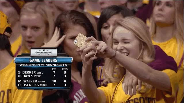 Watch and share Cute Girls At Basketball Game (reddit) GIFs on Gfycat