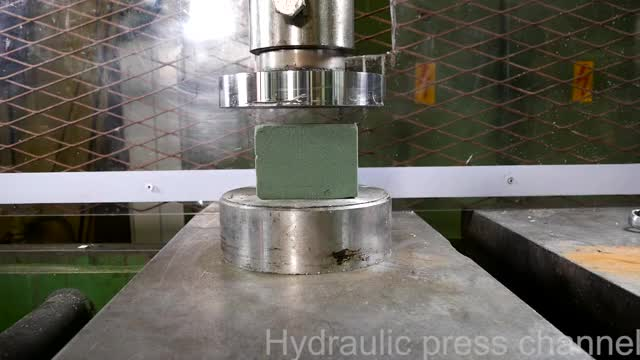 Watch and share Crushing Foams With Hydraulic Press GIFs on Gfycat