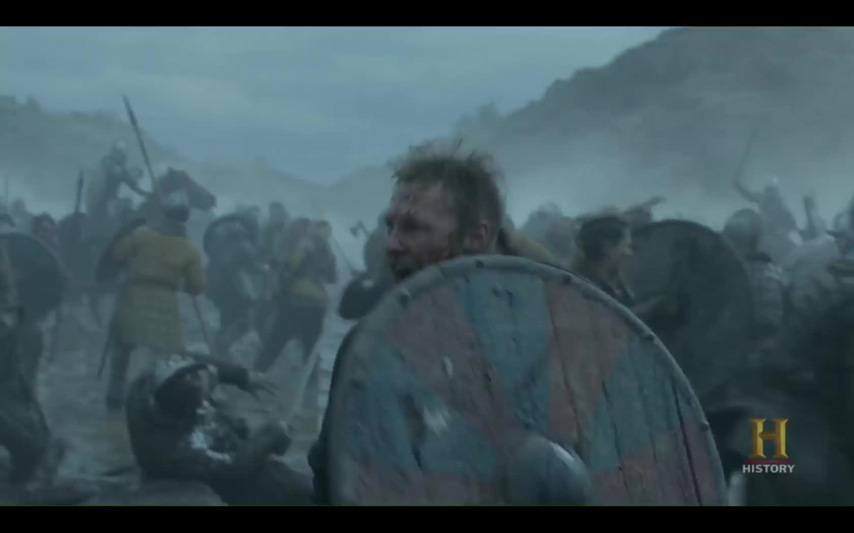 battle, vikings, vikingstv, Ubbe being an absolute beast GIFs