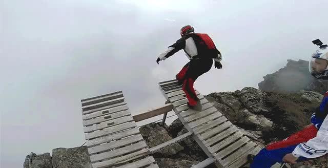 Watch Cloudy Sky Base Jump in Switzerland GIF by Ievgen Marchuk (@ievgenmarchuk) on Gfycat. Discover more Cloudy, SkyBaseJump, Switzerland GIFs on Gfycat