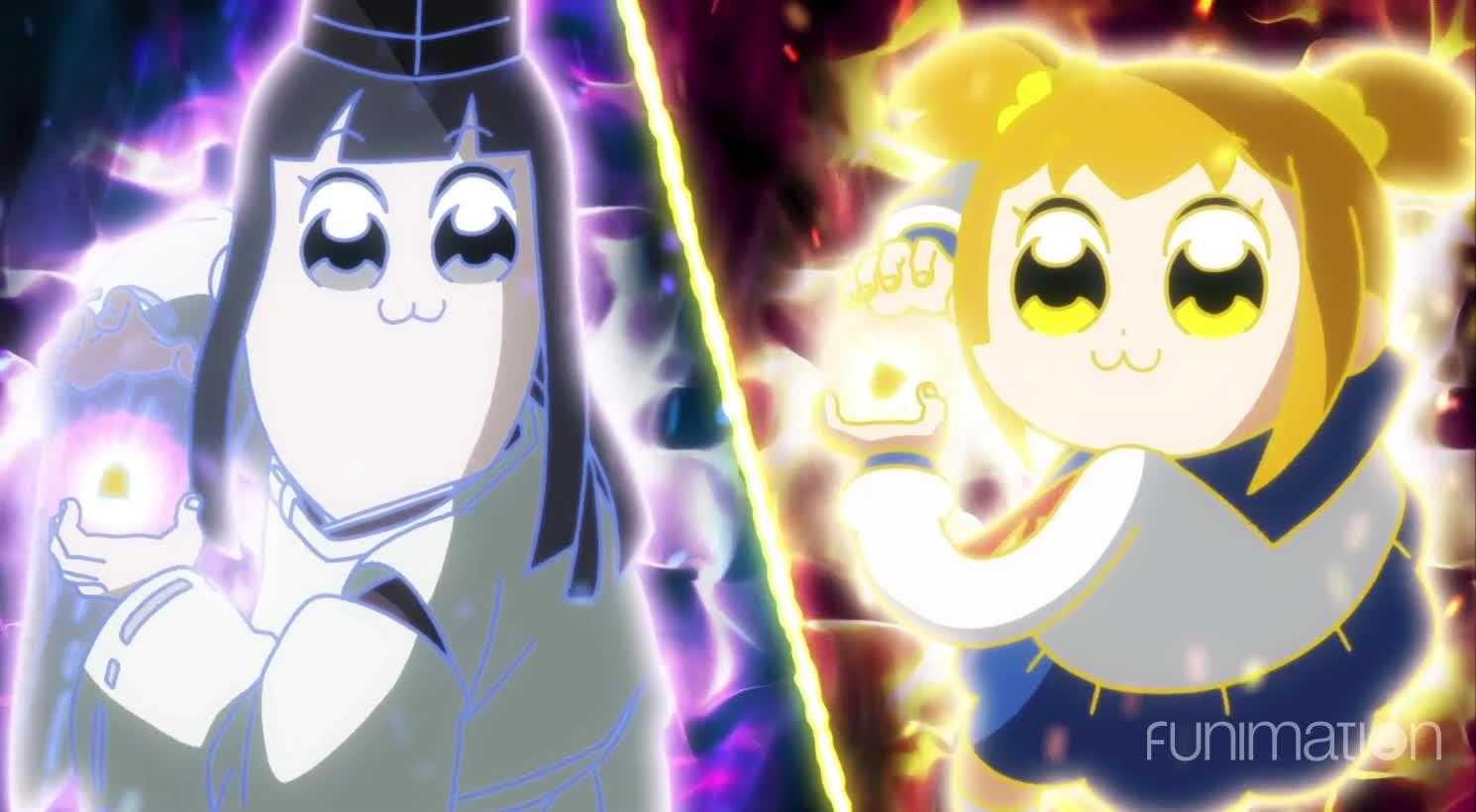 anime, cartoon, comedy, funimation, funny, pop team epic, pop team epic episode 6, Ka me ha... i mean Engery blasts! GIFs