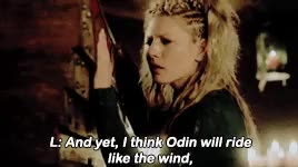 Watch and share Ragnar And Lagertha GIFs and Katheryn Winnick GIFs on Gfycat