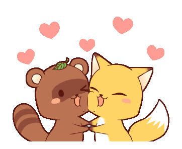 Tanuki & Fox animated GIFs