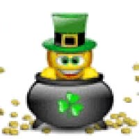 Watch and share St Patricks Day Pot Of Gold Coins Smiley Emoticon Animation Animated Gif GIFs on Gfycat