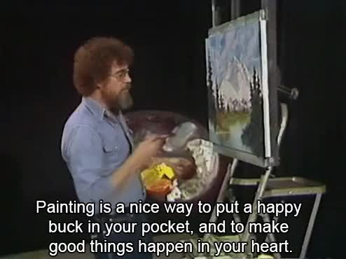 Watch and share Bob Ross GIFs and Painting GIFs on Gfycat