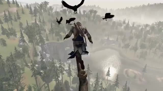 Assassin S Creed The Leap Of Faith Gif Gfycat