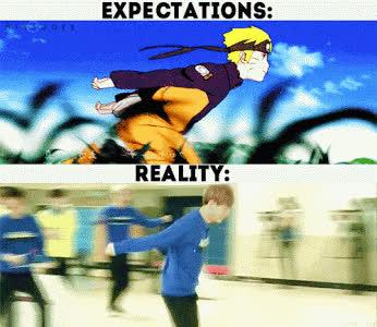 Me dan ganas de correr como Naruto pero recuerdo q... GIFs