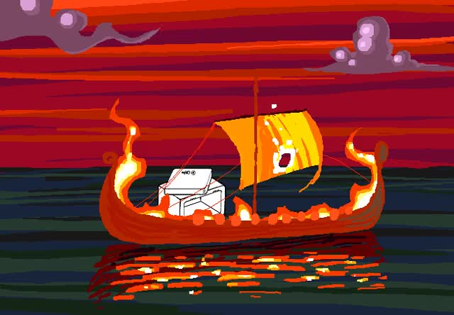 Watch and share The SAFE Was Slain In Battle. A Great Flaming Nautical Pyre Carries It Off To VAULTHALLA. GIFs on Gfycat