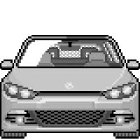 Watch and share VW Sirocco - Silver animated stickers on Gfycat