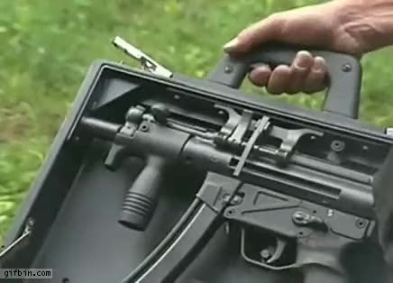 Watch and share Briefcase Gun GIFs on Gfycat