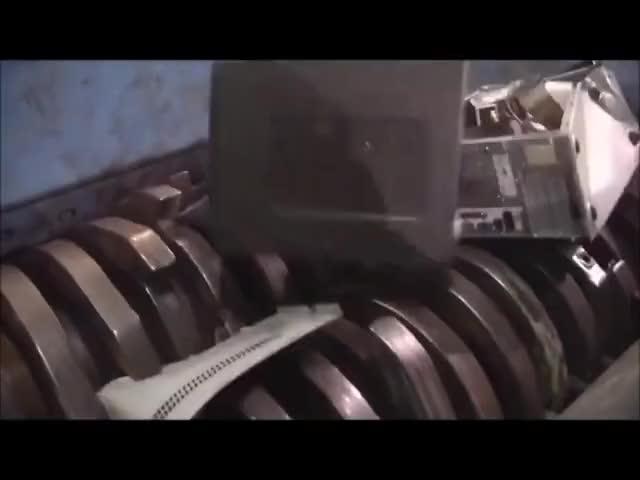 Watch and share E Waste Shredder | Fridge Shredder | Printer Shredder | Computer Shredder GIFs on Gfycat